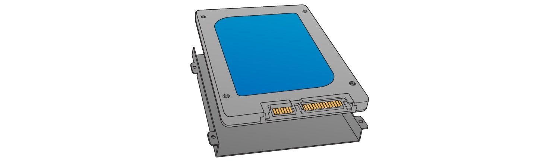 找到儲存槽以安裝固態硬碟。