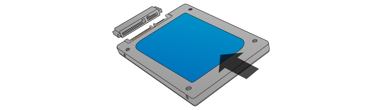 安裝固態硬碟時,請勿進行連接。