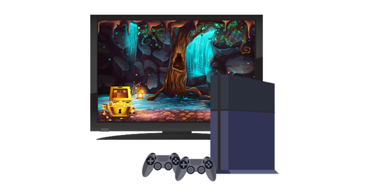 遊戲主機與電視螢幕
