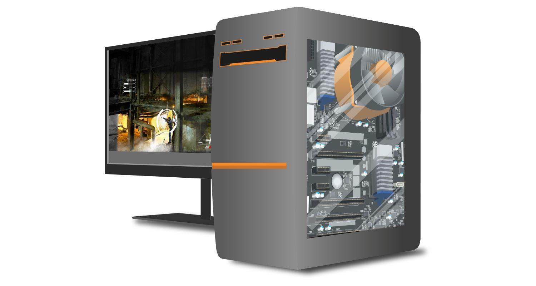 電競電腦與顯示遊戲畫面的螢幕
