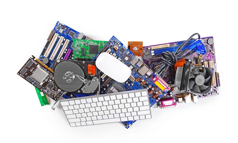 電腦硬體集合,包括鍵盤與滑鼠