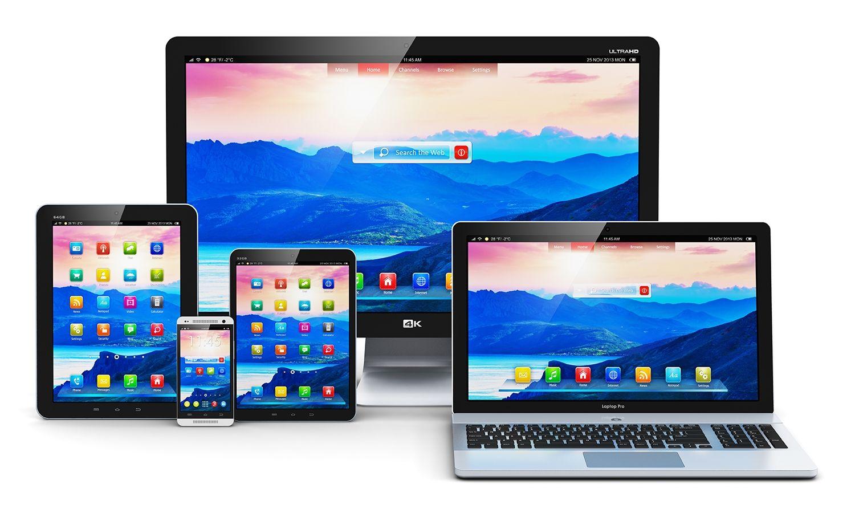 桌上型電腦、筆記型電腦、平板電腦與手機