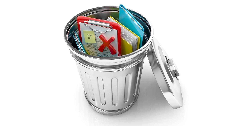 資源回收桶包含已刪除的文件,以及使用者刪除 Cookie 與網路暫存檔案後留下的資料檔