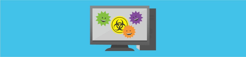 電腦病毒攻擊桌上型電腦。