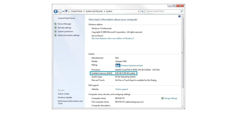 Windows 7 系統彈出式視窗