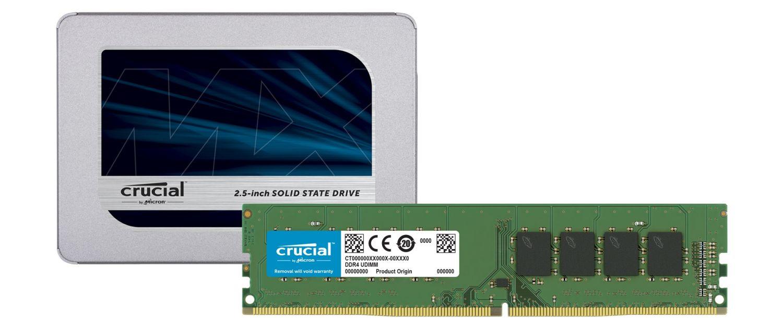 Crucial SSD 與 RAM 記憶體模組