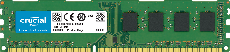 白色背景前的電腦用 Crucial RAM 記憶體